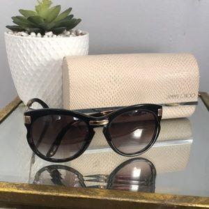 Foldable Jimmy Choo Black and Gold sunglasses